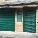 green shutter doors